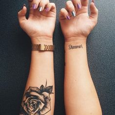 rose tattoo idea #ink #youqueen #girly #tattoos #flower #rose