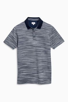Buy Navy Textured Fabric Interest Polo from the Next UK online shop