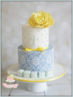 Blue & Yellow Baptism by Jo Finlayson (Jo Takes the Cake)