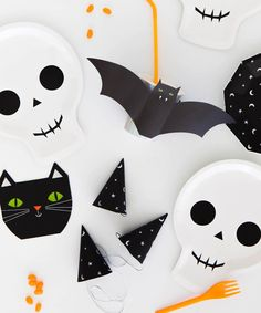 Halloween Skull Party Plates | Oh Happy Day Party Shop!