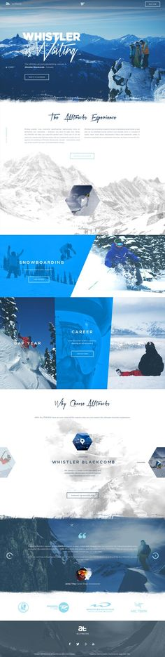"""I like the #section transitions on this one. The rough, scratchy looks gives a pretty accurate feeling of """"winter"""".. If you like UX, design, or design thinking, check out theuxblog.com"""