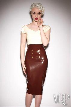 Sinderella Rockafella wears High Waisted Skirt by Catalyst Latex