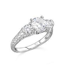 1.25 ct. t.w. Engraved Diamond Ring (H-I, I1)