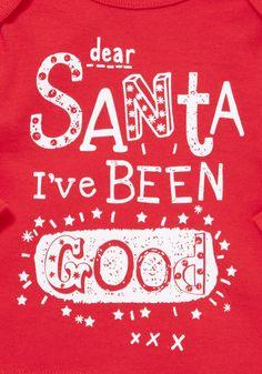 Clothing at Tesco | F&F Santa I've Been Good Long Sleeve T-Shirt > tops > Newborn > Baby