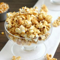 Tequila-Spiked Caramel Corn by