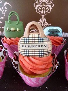 Burberry handbag cupcake
