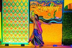 Colorful mehendi sangeet wedding photography Ahmedabad Stage Decorations, Indian Wedding Decorations, Indian Weddings, Mehndi Decor, Mehendi, Mehandi Images, Light Fest, Mehndi Ceremony, Wedding Couple Poses Photography