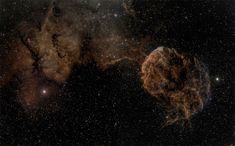 Sharpless 249 and the Jellyfish Nebula Astrophotography Photos - Hongkiat
