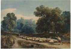 In Windsor Park, David Cox, 1807, watercolour. l Victoria and Albert Museum