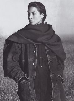 Christy Turlington in a 1989 Calvin Klein ad shot by Bruce Weber