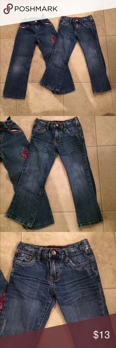 "$9 girls size 5 denim lot Both in great condition! ✔The price in the beginning of the title of my listings is the bundle price. These prices are valid through the ""make an offer"" feature after you create a bundle. These bundle orders must be over $15. Ask me about more details if interested.  ❌No trades ❌No hold Sonoma Bottoms Jeans"
