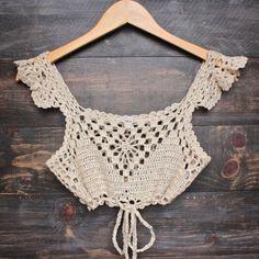 Next morning crochet bralette - natural