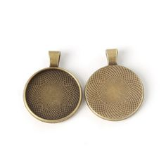 10pcs 25/18/18x25mm Antiqued Bronze necklace pendant setting cabochon cameo base Tray bezel blank jewelry making findings