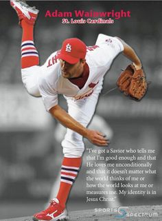 Adam Wainwright (St Louis Cardinals)  Just another reason to love my pitcher.(: