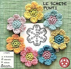 Crochetpedia crochet flowers free patterns all the patterns you ll ever need are here – ArtofitImage gallery – Page 479563060320514635 – ArtofitInteresting construction - Crochet Flower, picture only Crochet Small Flower, Crochet Flower Patterns, Crochet Designs, Crochet Flowers, Knitting Patterns, Crochet Diagram, Crochet Chart, Crochet Motif, Crochet Doilies