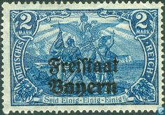 1919 Free State of Bavaria uper - German Allegory North and South