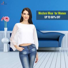 Buy online western wear for women | fingoshop.com Party Wear For Women, Western Wear For Women, Tunics Online, Tshirts Online, Best Online Shopping Sites, Tee Shirts, Tees, Trendy Tops, T Shirts For Women