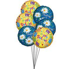 Sweet yellow birthday Balloons:  Shop #Birthday #Balloon online