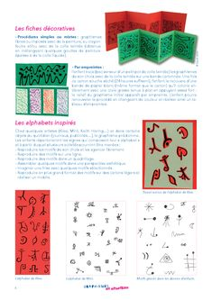 2 idées d'activités en lien avec le graphisme, à décliner lors d'ateliers en maternelle. Ms Gs, Self Defense, Diagram, Arts, Calligraphy, Awesome, Kindergarten Writers Workshop, Index Cards, Graphic Design