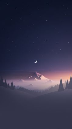 This HD wallpaper is about mountain and trees under starry sky illustration, mountain surrounding trees photo, Original wallpaper dimensions is file size is Wallpaper Keren, Wallpaper Backgrounds, Iphone Wallpapers, Minimalist Wallpaper Phone, Simple Backgrounds, Minimal Wallpaper, Cool Wallpapers City, Nature Wallpaper, Psycho Wallpaper Iphone