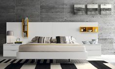 Budapest double bed with an eccentric headboard Modern Bedroom Furniture, Contemporary Bedroom, Bed Furniture, Furniture Design, Bedroom Set Designs, Bedroom Sets, Bedrooms, White Bedroom, Sofa Come Bed