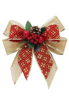 Disney Christmas Ornaments, Christmas Ribbon, Christmas Projects, Holiday Crafts, Christmas Wreaths, Christmas Crafts, Diy Crafts How To Make, How To Make Bows, Christmas Garland On Stairs