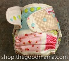 Patchwork floral goodmama diapers