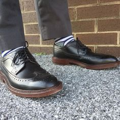 Brand new @grantstone black longwings fresh out of the box   #grantstone #madetolast #goodyearwelt #wingtip #wingtips #shoestagram #wiwt #ootd #shoes #shoegame #shoeselfie #dapper #getdapper #sockgame #centralpa #harrisburg #SusquehannaStyle #fashionblogger #sprezzatura #gq #gqstylehunt #gqstyle #style #fashion #sockgame #sprezzabox #bananarepublic #itsbanana
