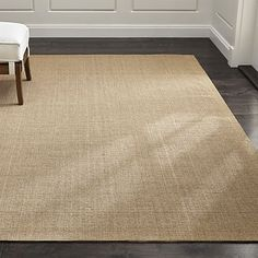 Sisal Almond Rug | Crate and Barrel - another option