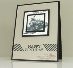 Masculine Birthday card made with Traveler, Gorgeous Grunge and Hey You stamp sets from Stampin Up by Kathleen Wingerson   www.kathleenstamps.com