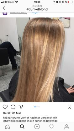 Are you looking for best hair colors to apply for long hair? Just see here, we have made a collection of fantastic long balayage colored hairstyles Honey Blonde Hair, Blonde Hair Looks, Hair Highlights, Balayage Hair, Dyed Hair, Hair Inspiration, Curly Hair Styles, Cool Hairstyles, Hair Cuts