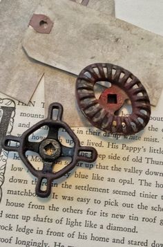 Vintage Rusty Faucet Handles, Lovely Patina For Projects, Industrial, Valve Knobs, Garden Spigot Handles, Knob, DIY Drawer Pulls, Steampunks, $15.99 #faucet_handles #spigots #steampunk #diy_drawer_pulls #knobs