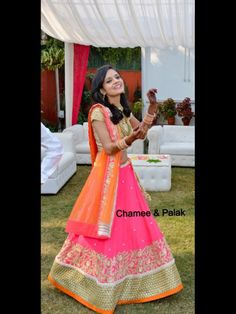 In a Chamee Palak Lehenga @ Nidhi - Our Stunning Bride Indian Wedding Planning, Big Fat Indian Wedding, Indian Bridal Wear, Indian Wear, Indian Skirt, Indian Dresses, Indian Outfits, Indian Clothes, Lehenga Wedding