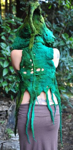 Felt Melted Tree Roots Woodland Nymph Warrior by frixiegirl, $323.00