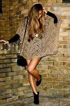 Crochet gold: Poncho!