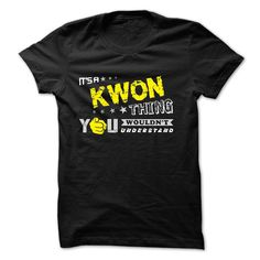 [Popular Tshirt name printing] If your name is KWON then this is just for you Shirt design 2016 Hoodies Tee Shirts