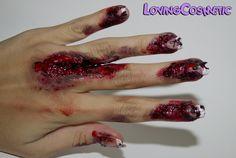 Halloween Nails caracterizacion http://lovingcosmetic.blogspot.com.es/2014/10/halloween-caracterizacion.html