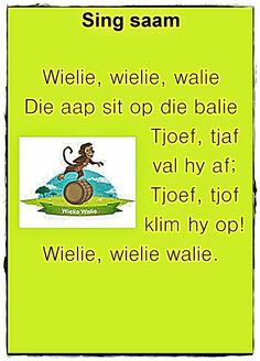 Preschool Learning, Preschool Activities, Baby Boys, Animals Name In English, Afrikaans Language, Kids Poems, Children Songs, Afrikaanse Quotes, Rhymes For Kids