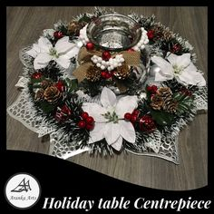 Beautiful table centrepiece for the holidays #arankaarts #holidaydecorchristmas #centrepiece Fashion Rings, Fashion Jewelry, Christmas Table Centerpieces, Centre Pieces, Home Decor Items, Accessories Shop, Christmas Wreaths, Holidays, Holiday Decor