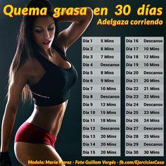 Desafío para adelgazar en 30 días corriendo - Ejercicios En Casa