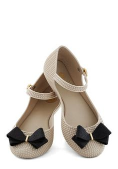 Looks Like Sun Flat in Chai by Mel Shoes - Cream, Black, Solid, Bows, Glitter Cute Flats, Bow Flats, Cute Shoes, Mel Shoes, Me Too Shoes, Flat Shoes, Pretty Shoes, Beautiful Shoes, Shoe Boots