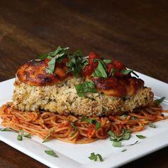 Baked Chicken Parmesan Recipe by Tasty #chickenrecipeshealthyparmesan