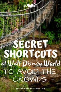Secret Shortcuts at Walt Disney World to Avoid the Crowds - Polka Dots and Pixie Dust Disney Vacatio, Disney World Secrets, Disney World Tips And Tricks, Disney Tips, Disney Fun, Disney Worlds, Disney Ideas, Disney Family, Disney Stuff, Disney Magic