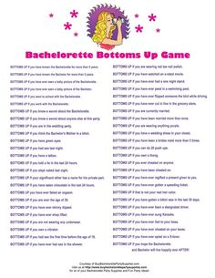 Pin for Later: 24 Free Bachelorette Party Printables Every Bride Will Love Bottoms Up Game This bottoms-up game will have guests feeling tipsy in no time.