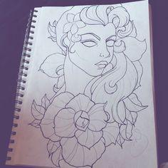 Mgnstlkr art #tattoo  #tattoodesign #art #sketch #drawing #flowers