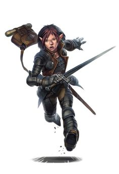 Halfling Fighter - Dungeons and Dragons DND Pathfinder PFRPG