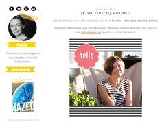 Roomie Interview with Kiwi Touch / Hazel Loves Design Online S, News Online, Business Launch, Online Business, Love Design, Kiwi, Interview, Product Launch, Touch