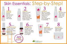PURE Haven Essentials 8 step Organic Fave Line Steps www.BuyPHE.com
