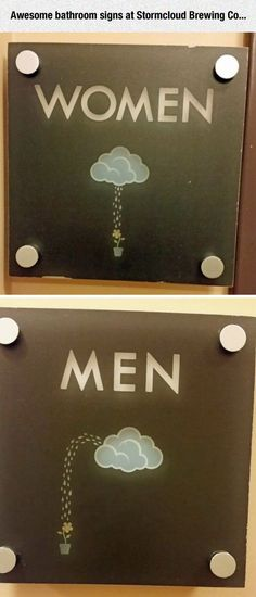 Funny pictures about Unique Bathroom Signs. Oh, and cool pics about Unique Bathroom Signs. Also, Unique Bathroom Signs photos. Deco Cool, Deco Restaurant, Photos Originales, Bathroom Signs, Restroom Signs, Funny Bathroom, Bathroom Quotes, Humor Grafico, Funny Signs