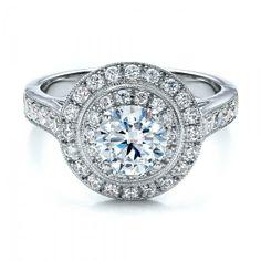 Double Halo Engagement Ring - Vanna K